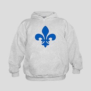 Blue Fleur-de-Lys Kids Hoodie