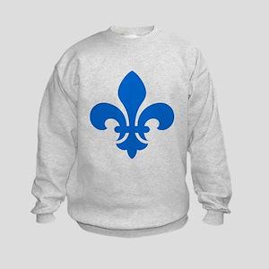 Blue Fleur-de-Lys Kids Sweatshirt
