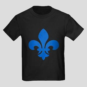 Blue Fleur-de-Lys Kids Dark T-Shirt