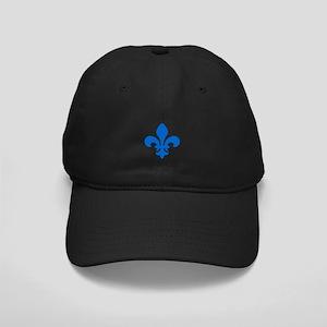 Blue Fleur-de-Lys Black Cap
