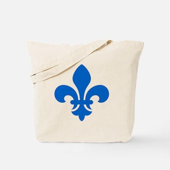 Blue Fleur-de-Lys Tote Bag