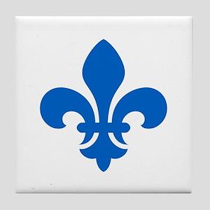 Blue Fleur-de-Lys Tile Coaster
