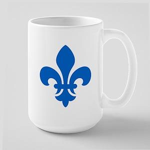 Blue Fleur-de-Lys Large Mug