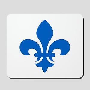 Blue Fleur-de-Lys Mousepad