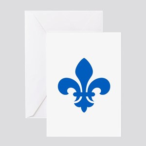 Blue Fleur-de-Lys Greeting Card