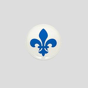 Blue Fleur-de-Lys Mini Button
