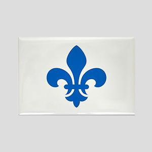 Blue Fleur-de-Lys Rectangle Magnet