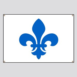 Blue Fleur-de-Lys Banner