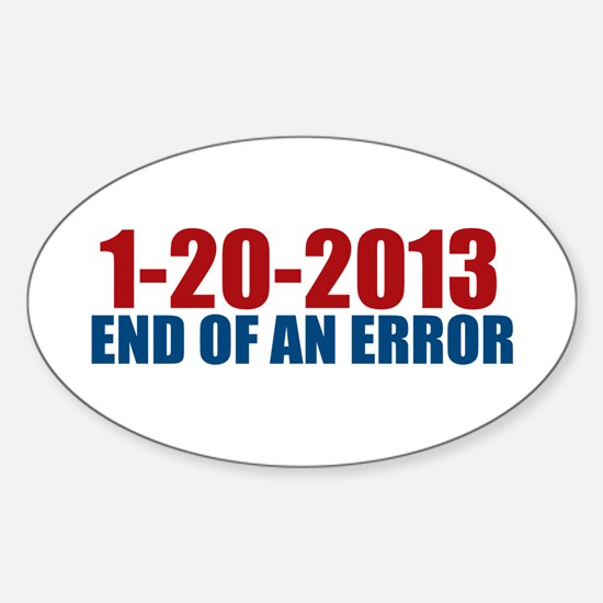 1-20-2013 End of Error Oval Decal