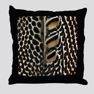 Argus pheasant Throw Pillow