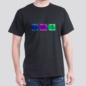 Color Row Pekingese Dark T-Shirt