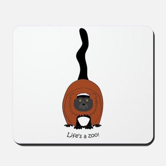 Red Ruffed Lemur Mousepad