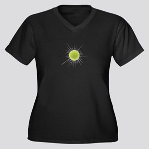 Tennis Buster Women's Plus Size V-Neck Dark T-Shir