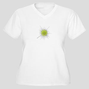 Tennis Buster Women's Plus Size V-Neck T-Shirt