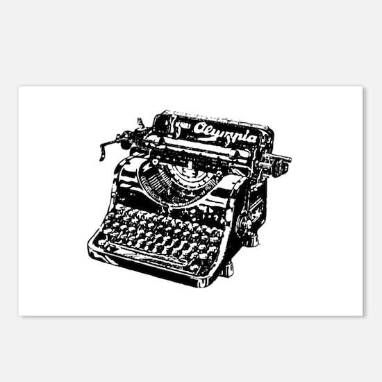 VINTAGE TYPEWRITER Postcards (Package of 8)