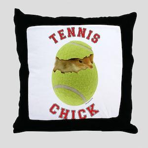 Tennis Chick 2 Throw Pillow
