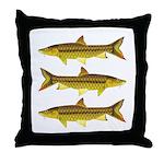 Golden Mahseer Throw Pillow