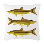 Golden Mahseer Woven Throw Pillow
