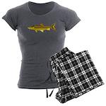 Golden Mahseer Women's Charcoal Pajamas