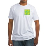 Dutch Gold And Yellow Design Fitted T-Shirt