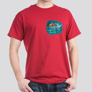 golden Retriever waves Dark T-Shirt
