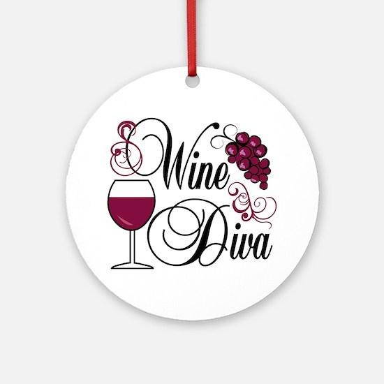 Wine Diva Ornament (Round)
