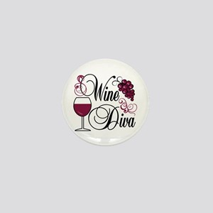 Wine Diva Mini Button