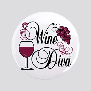 "Wine Diva 3.5"" Button"