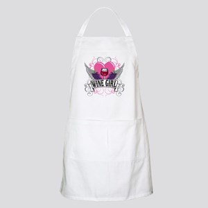 Wine Girl Heart BBQ Apron