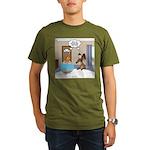 Fish Meets Dachshund Organic Men's T-Shirt (dark)
