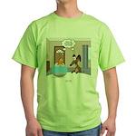 Fish Meets Dachshund Green T-Shirt