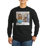Fish Meets Dachshund Long Sleeve Dark T-Shirt