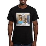 Fish Meets Dachshund Men's Fitted T-Shirt (dark)