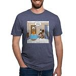 Fish Meets Dachshund Mens Tri-blend T-Shirt