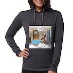 Fish Meets Dachshund Womens Hooded Shirt