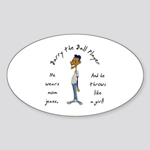 Barry the Ball Player Oval Sticker