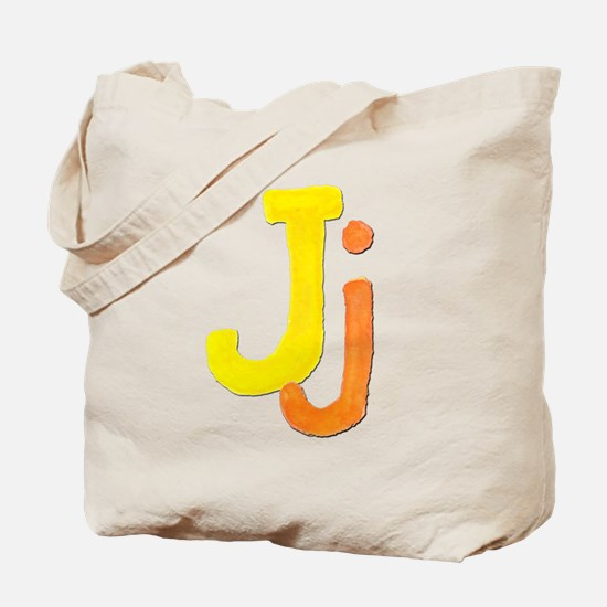 J is for Jazzy Tote Bag