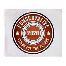 Conservative Vision Throw Blanket