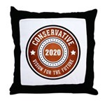 Conservative Vision Throw Pillow