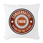 Conservative Vision Woven Throw Pillow