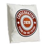 Conservative Vision Burlap Throw Pillow