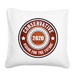 Conservative Vision Square Canvas Pillow