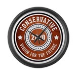 Conservative Vision Large Wall Clock
