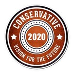 Conservative Vision Round Car Magnet