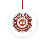 Conservative Vision Round Ornament