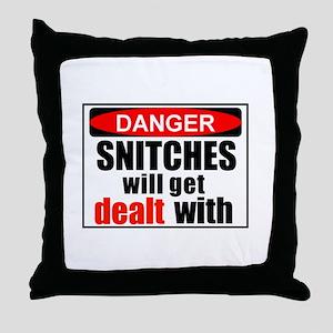 Stop snitchin' Throw Pillow