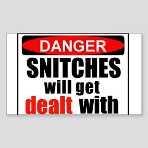 Stop snitchin' Rectangle Sticker