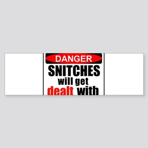 Stop snitchin' Bumper Sticker