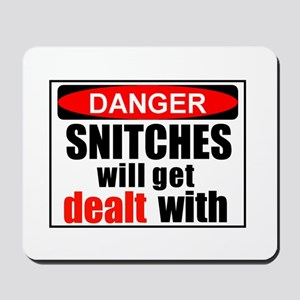 Stop snitchin' Mousepad
