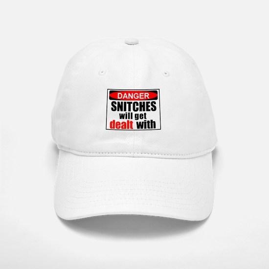 Stop snitchin' Baseball Baseball Cap